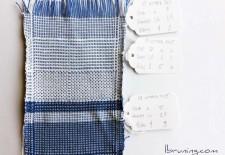 Blue and White Sampler